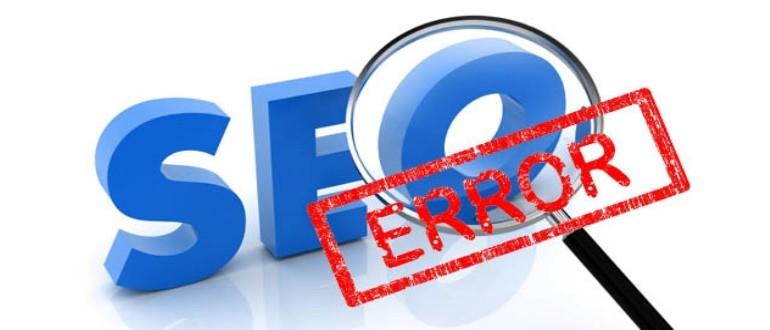 5 principales errores en la optimización del sitio web