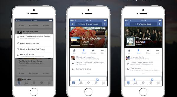 nueva aplicación save de facebook