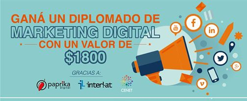 GANA UNA BECA 100% a la Diplomatura en Marketing Digital con Interlat. Cenet