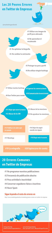 Los peores errores que cometen las empresas en twitter tips para evitarlos