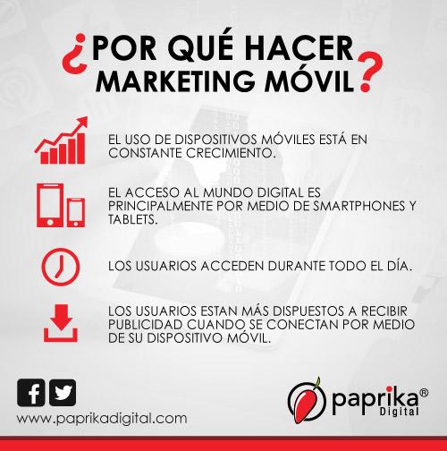 Una infografía que explica por qué es necesario hacer Marketing Móvil