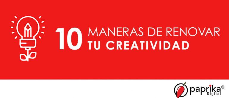 Renueva tu creatividad